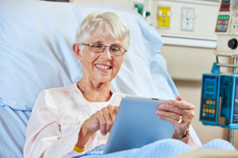 senior using tablet